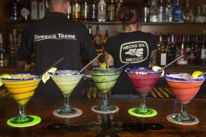 Assorted Margaritas for cinco de mayo / Rocco's Tacos