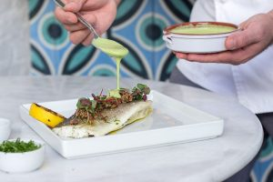 Salt Baked Branzino at Costa / summer lunch deals