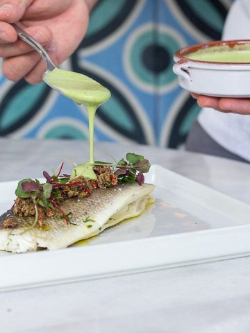 Salt Baked Branzino at Costa / summer lunch deals