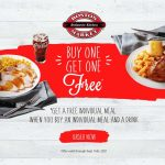 Get free Individual Meal with purchase at Boston Market