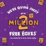 Get free box of Cinnamon Toast Crunch cereal via rebate